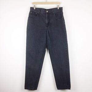 Vintage high waisted mom jeans faded black denim